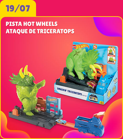 Pista Hot Wheels - Ataque de Triceratops