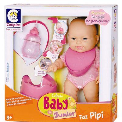 Boneca Faz Pipi - Coleção Baby Junior - Cotiplás