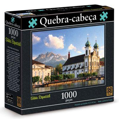 Quebra-Cabeça - Igreja Jesuíta - 1000 Peças - Grow