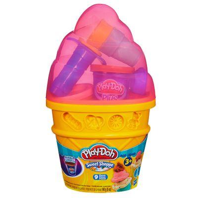 Embalagem-Massinha-Play-Doh---Cone-Sorvete-Rosa---Hasbro