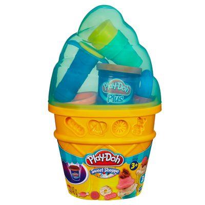 Massinha-Play-Doh---Cone-Sorvete-Verde---Hasbro