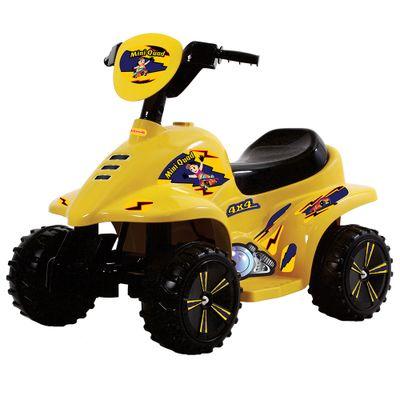 Mini-Quadriciclo-Eletrico-Mini-Quad-Amarelo-6V