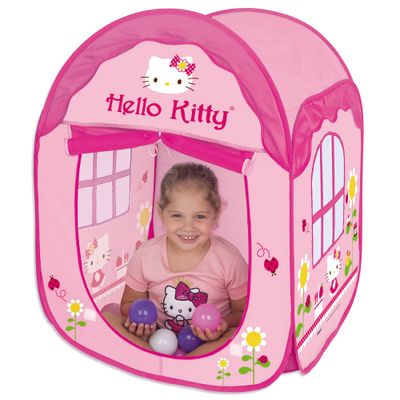 Toca-House-Hello-Kitty-com-Bolinhas