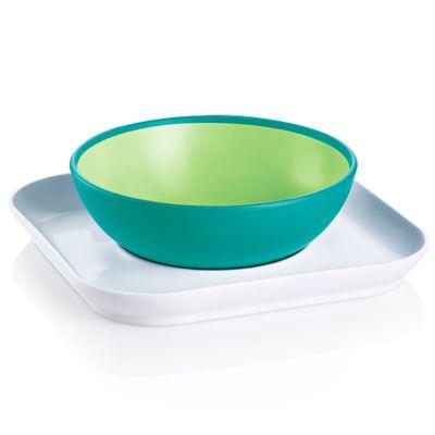 Papeiro-e-Prato-Baby-s-Bowl---Plate-Verde-MAM