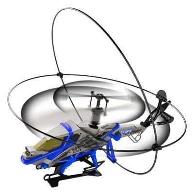 Voando-Helicoptero-de-Controle-Remoto-Heli-Shield-II-Azul-DTC