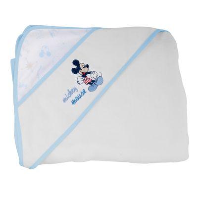 Toalha-Mickey-de-Fralda-com-Capuz-Azul-e-Branco-Minasrey