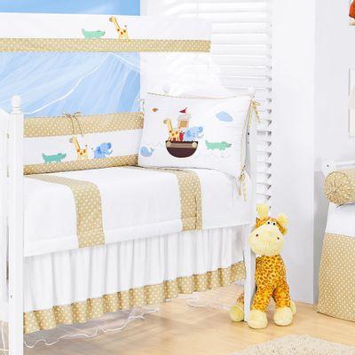 Kit-para-Berco-Arca-Baby-Branco-e-Bege-Esconde-Esconderijo