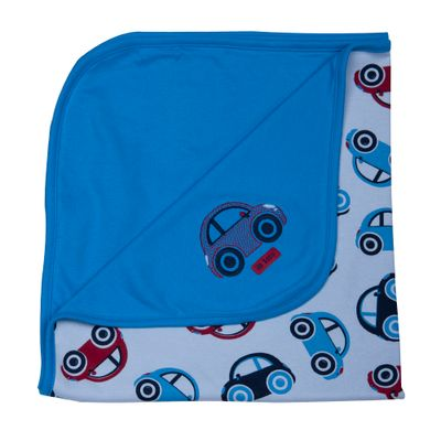 Manta-Carrinhos-em-Suedine---Azul-Medio---Up-Baby