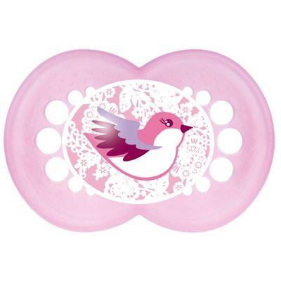 Chupeta-Pearl-Silk-Touch-Girls---Fase-2---Rosa---MAM