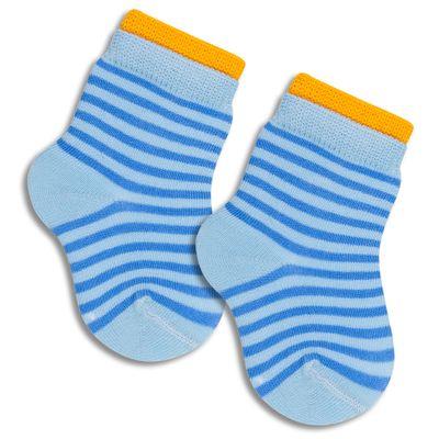Meia-Infantil-Listrada-com-Punho-Colorido---Azul---Lupo---2001-034