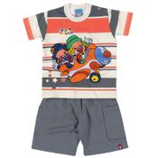 Conjunto-Patati-Patata---Camiseta-e-Bermuda---Creme-e-Cinza---Malwee---42159