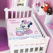 Cobertor-Raschel-Disney-Baby-Minnie-com-Bercinho-Rosa-Jolitex