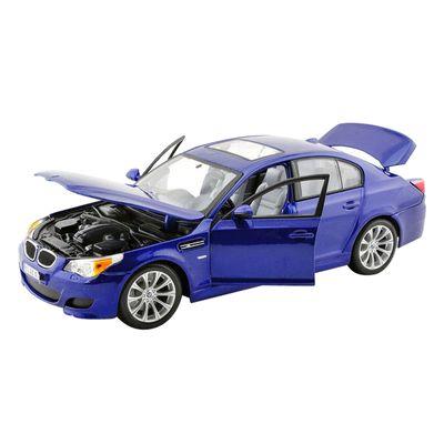 Lateral-aberto-Carro-BMW-M5-Azul-Marinho-Special-Edition---118-Maisto