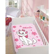 Manta-de-Microfibra---Disney-Gatinha-Marie-Flores---Rosa---Jolitex1000