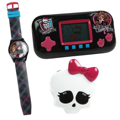 Combo-Monster-High-Mini-Game-Relogio-e-Radio-Clawdeen-Wolf-Candide