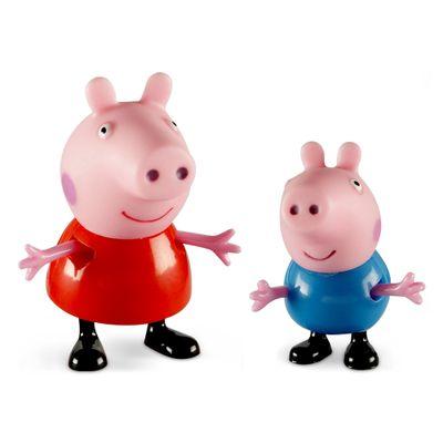 Figuras-Colecionaveis-Peppa-Pig-e-seus-Amigos---Peppa-e-George---Estrela
