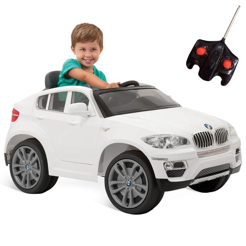Comprar Carrinho Veículo infantil elétrico BMW X6 branco com controle remoto