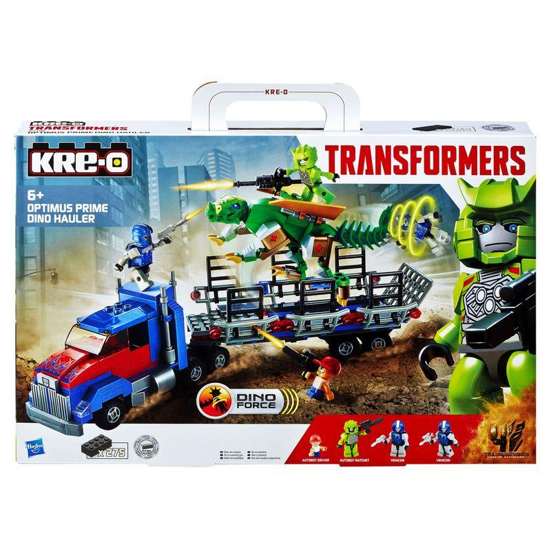 Comprar Brinquedo Kit Kre-o Transformers Optimus Prime Dino Hauler 275 peças