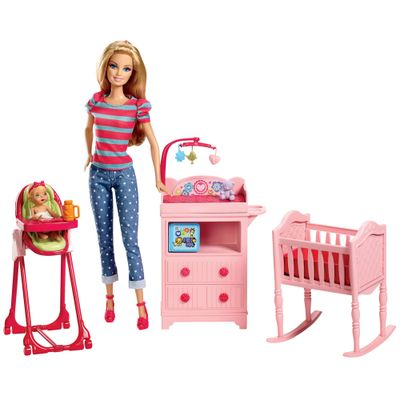 BLL72-Boneca-Barbie-Profissoes-Bercario-Mattel