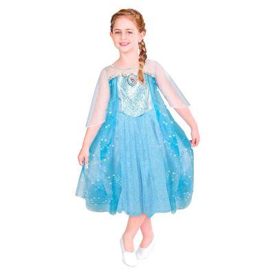 Fantasia Infantil Frozen - Princesa Elsa - Rubies - G cod 100084398