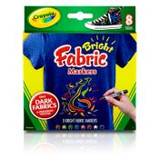 Canetinha-para-Tecido-Bright-Fabric-Markers---8-Canetas---Crayola