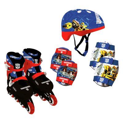 Patins-In-Line-e-Kit-de-Seguranca-Transformers---37-ao-40---Conthey
