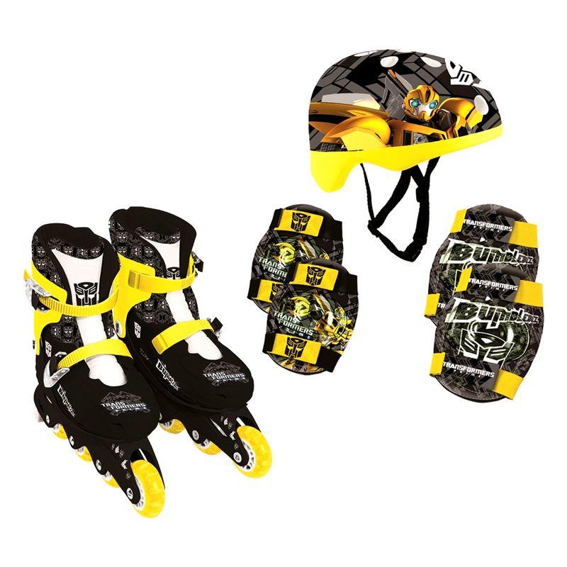 Comprar Patins In Line e Kit de Segurança Transformers Bumblebee Conthey