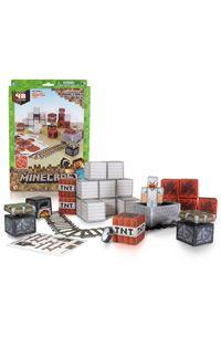 Conjunto-Minecraft---Papercraft---Minecart---Multikids---BR150