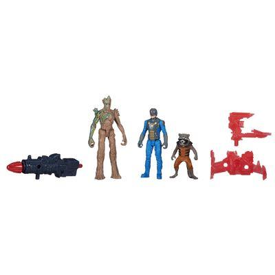 Bonecos-Guardioes-da-Galaxia---10-cm---Groot-e-Rocket-Raccoon-e-Nova-Corps-Officer---Hasbro