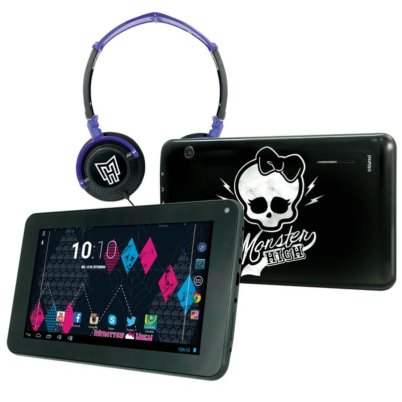 Comprar Tablet Android 4.2 Monster High com Headphone Tela 7 Multi-Touch e 8GB Candide