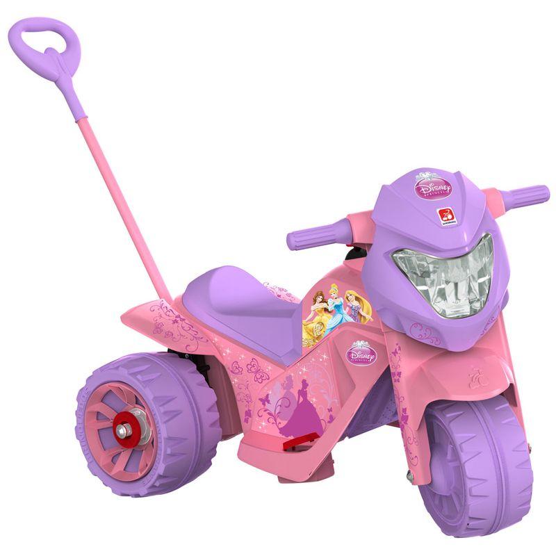 Comprar Mini Moto infantil Elétrica 6V Ban Moto Princesas Disney Passeio Bandeirante