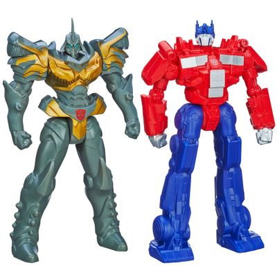 Kit-Bonecos-Transformers-4-Titan-40-cm-Grimlock-Optimus-Prime-Hasbro