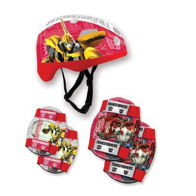Kit-Capacete-e-Acessorios-Bumblebee-Vermelho-e-Branco---Transformers---Conthey