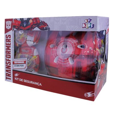 Kit-Capacete-e-Acessorios-Bumblebee-Vermelho---Transformers---Conthey