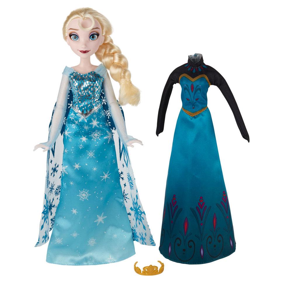 2cbb7d3290 Boneca Disney Frozen - Vestidos Reais - Elsa.