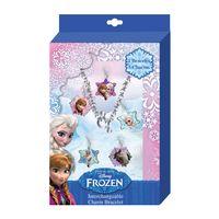 Kit Pulseira de Metal com Pingente - Disney Frozen - Euroswan