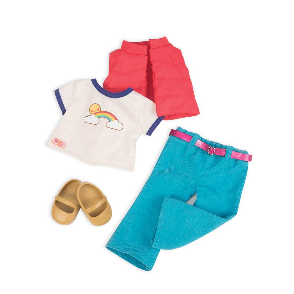1fb5f06e6 Calça Jeans com Camiseta de Arco-Iris - Our... (rihappy-100130701)