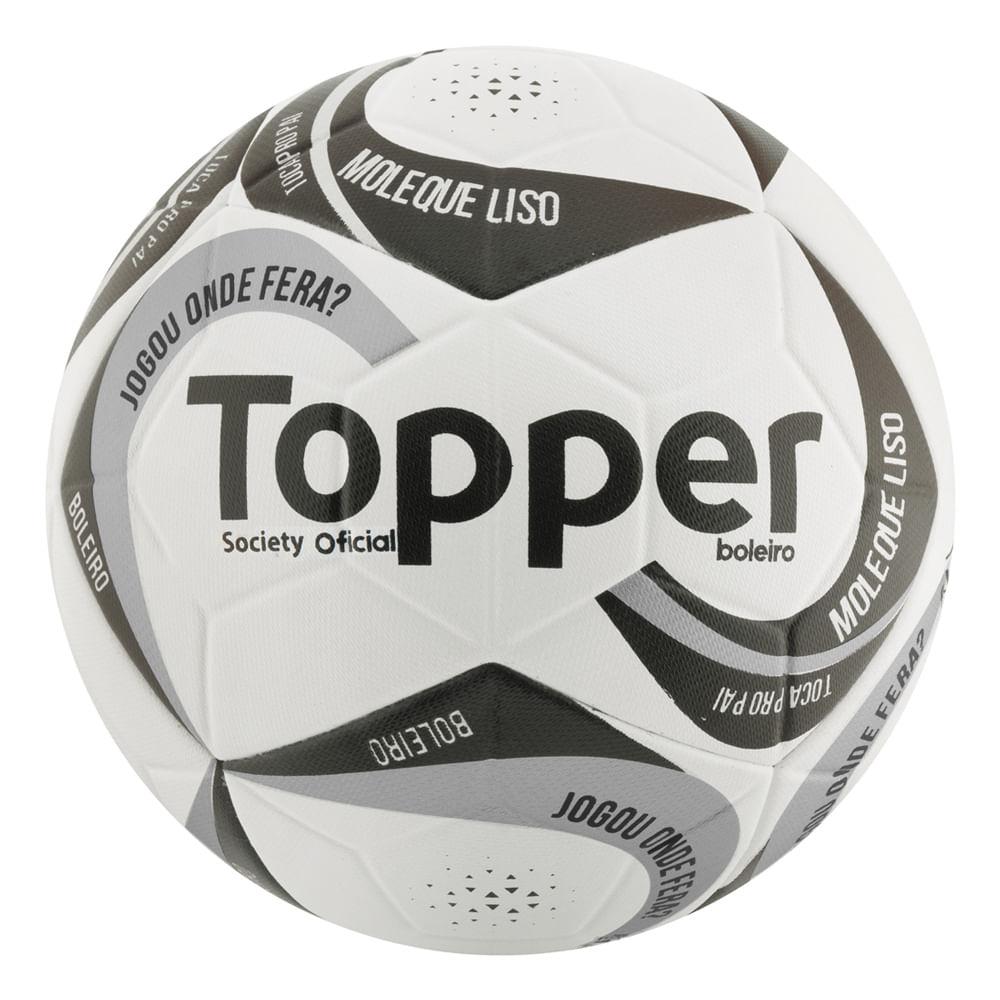 Bola de Futebol - Society - Branco e Preto -. 97515e121c689