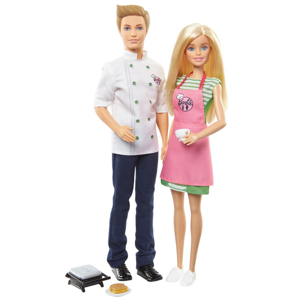 684cacaca Barbie - Cozinhando e Criando - Barbie e Ken... (rihappy-100147708)